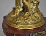 Raoul Larche, La linfa, firmata in bronzo dorato, XIX-6