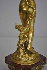 Raoul Larche, La linfa, firmata in bronzo dorato, XIX-8