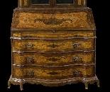 Commode avec vitrine du 18ème siècle-2