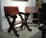 Paire de fauteuils à ciseaux, Toscane, 17ème siècle-3