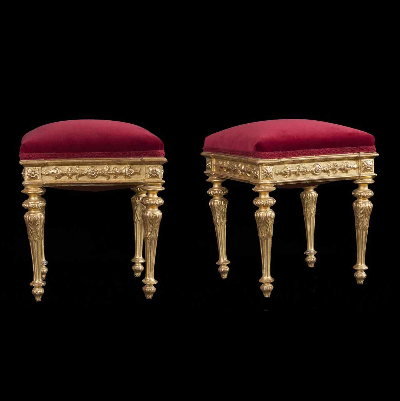 Pair of  18th century italian stools