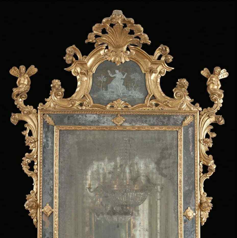 Miroir en bois doré, Venise, époque Louis XV