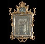 Miroir en bois doré, Venise, époque Louis XV-4