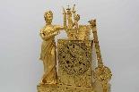 Antico Orologio a Pendolo Impero in bronzo - XIX secolo-2