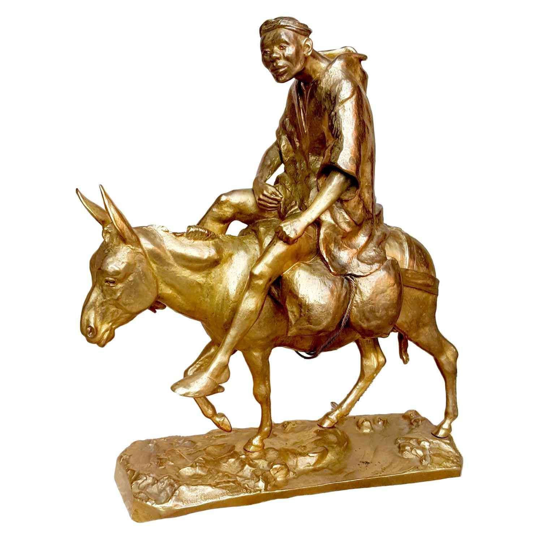 René Choquet, Orientalista di bronzo dorato, 1903, XX secolo