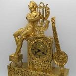 Antico Orologio a Pendolo Impero in bronzo - XIX secolo-3