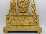 Antique Empire Pendulum Clock in bronze - 19th century-6