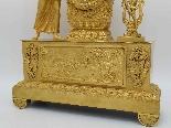 Antico Orologio a Pendolo Impero in bronzo - XIX secolo-8
