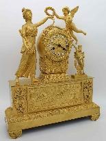 Antique Empire Pendulum Clock in bronze - 19th century-9