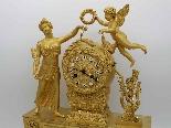 Antique Empire Pendulum Clock in bronze - 19th century-2