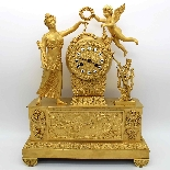 Antique Empire Pendulum Clock in bronze - 19th century-13