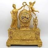 Antique Empire Pendulum Clock in bronze - 19th century-12