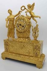Antique Empire Pendulum Clock in bronze - 19th century-10