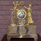 Antique Empire Pendulum Clock in bronze - 19th century-11
