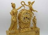 Antique Empire Pendulum Clock in bronze - 19th century-1