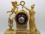 Antique Empire Pendulum Clock in bronze - 19th century-5