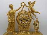 Antico Orologio a Pendolo Impero in bronzo - XIX secolo-0
