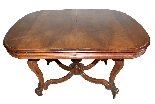 Table + 6 chairs in solid walnut France, 19th century-2