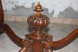 Tavolo + 6 sedie in noce massello Francia periodo XIX secolo-1