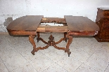 Table + 6 chairs in solid walnut France, 19th century-3