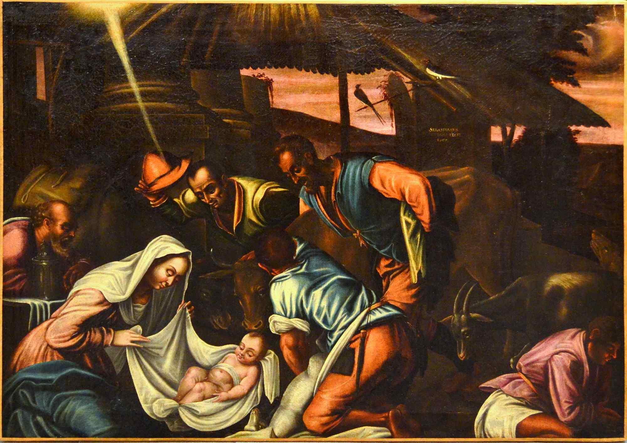 L'Adoration des bergers - Atelier de Jacopo Bassano