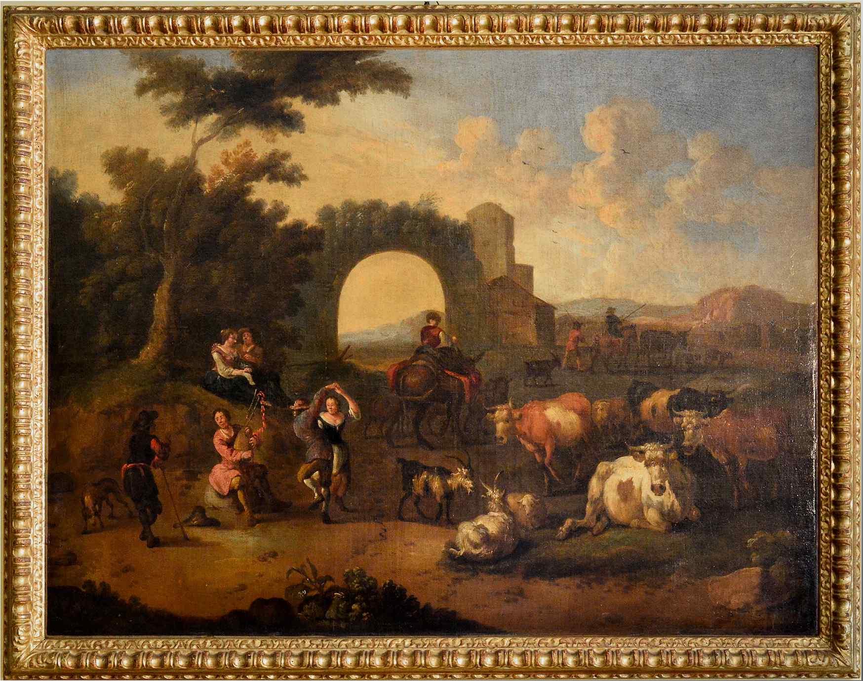 Michelangelo Cerquozzi (1602 - 1660) bottega, Festa rurale