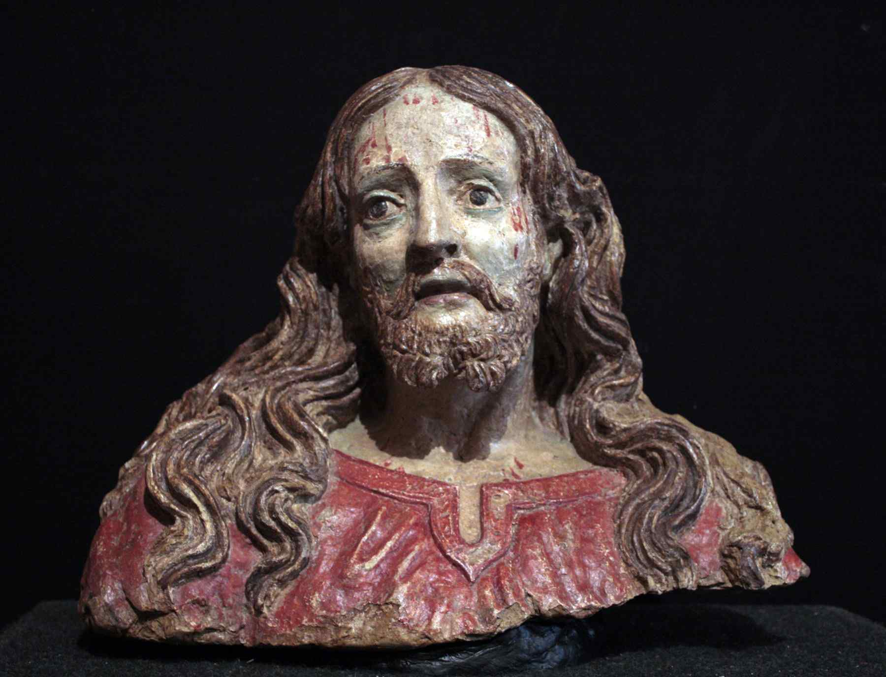 Buste du Christ en terre cuite, sec. XVI