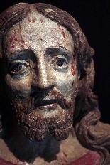 Busto di Cristo in terracotta, sec. XVI-3