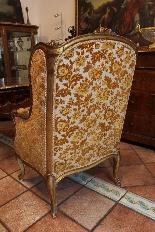 paire de fauteuils antiques dorés du 19ème siècle-4