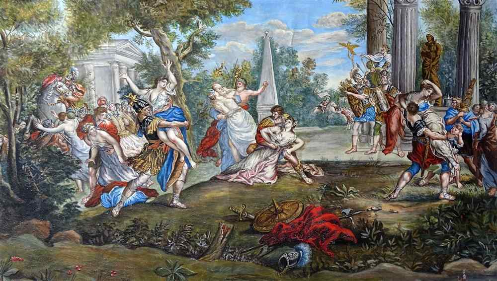 The abduction of Sabines French School 18th