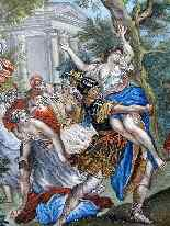 The abduction of Sabines French School 18th-0