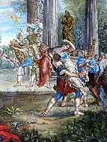 The abduction of Sabines French School 18th-3