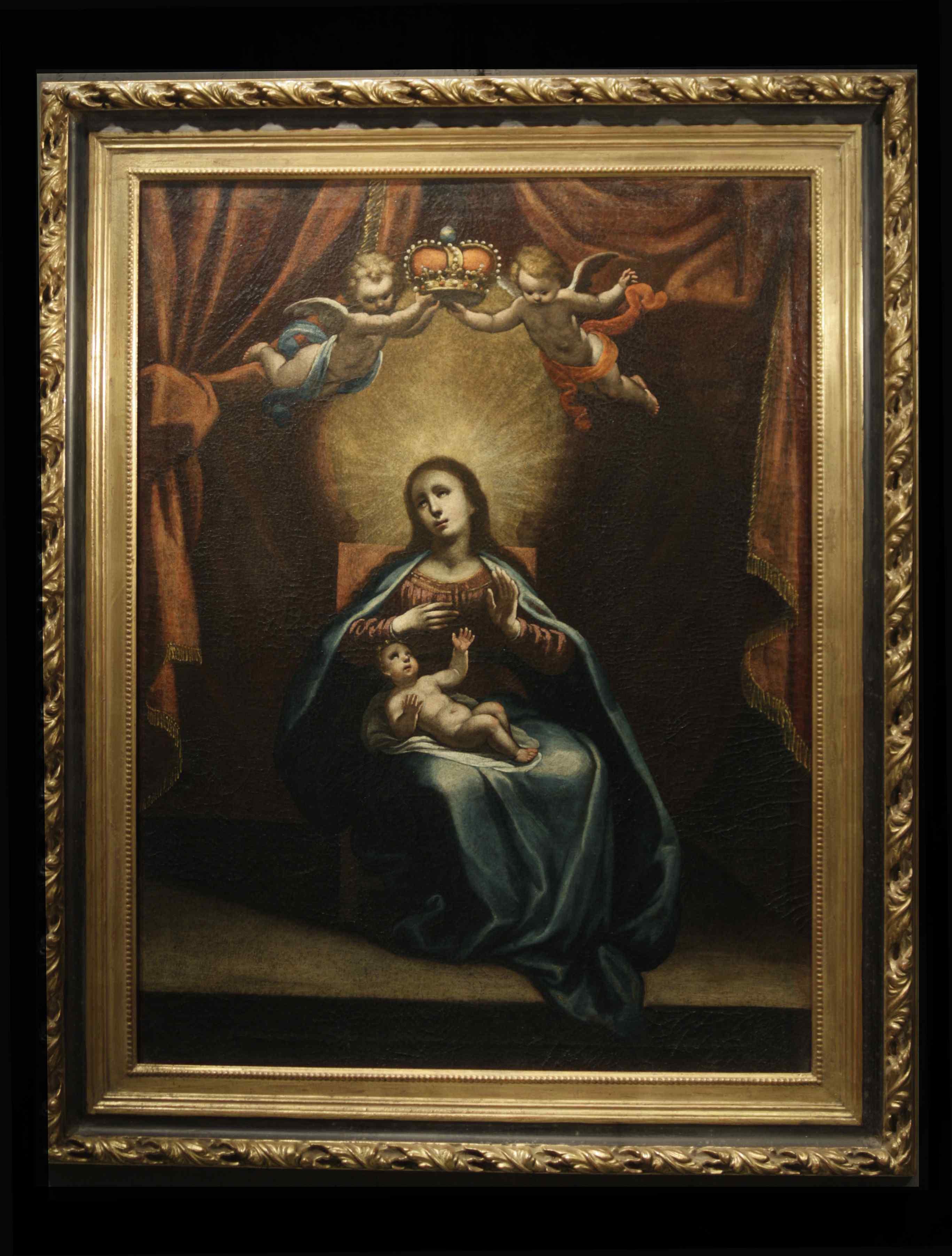ASTOLFO PETRAZZI (SIENA 1580-1653) MADONNA ENFANT ET ANGES