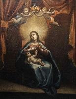 ASTOLFO PETRAZZI (SIENA 1580-1653) MADONNA ENFANT ET ANGES-1