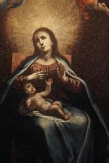 ASTOLFO PETRAZZI (SIENA 1580-1653) MADONNA ENFANT ET ANGES-2