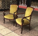 Pair of Mahogany Restoration period armchairs-2