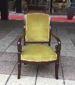 Pair of Mahogany Restoration period armchairs-1