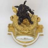 Antico Orologio Pendolo Napoleone III in bronzo - XIX secolo-9