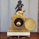 Antico Orologio Pendolo Napoleone III in bronzo - XIX secolo-10