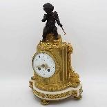 Antico Orologio Pendolo Napoleone III in bronzo - XIX secolo-8