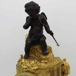 Antico Orologio Pendolo Napoleone III in bronzo - XIX secolo-2