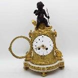 Antico Orologio Pendolo Napoleone III in bronzo - XIX secolo-3