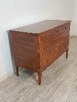 18th Century Italian Louis XVI Inlay Wood Chest of Drawers-0