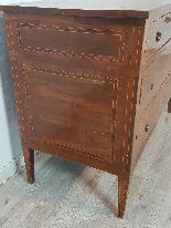 18th Century Italian Louis XVI Inlay Wood Chest of Drawers-1