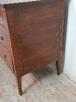18th Century Italian Louis XVI Inlay Wood Chest of Drawers-8