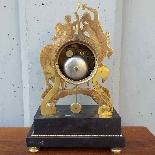 Antique Empire Pendulum Clock in bronze - 19th century-3