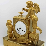 Antique Empire Pendulum Clock in bronze - 19th century-4