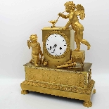 Antique Empire Pendulum Clock in bronze - 19th century-2