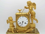 Antique Empire Pendulum Clock in bronze - 19th century-5