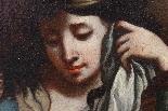 Ancienne peinture à l'huile sur toile représentant Noblewoma-5